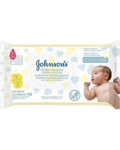 Toalha Umedecida Johnson & Johnson Baby Recém-Nascido C/48
