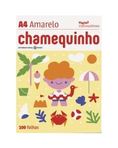 Papel A4 Chamequinho 100 Folhas Amarelo