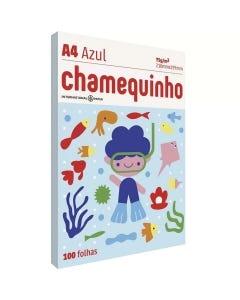 Papel A4 Chamequinho 100 Folhas Azul