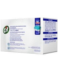 Detergente Maquina Louça Cif Tabletes 4 Em 1 315g